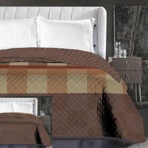 Hnedý prehoz na posteľ obojstranný