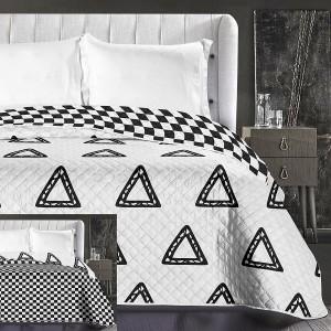 Obojstranný prehoz na posteľ bielej farby
