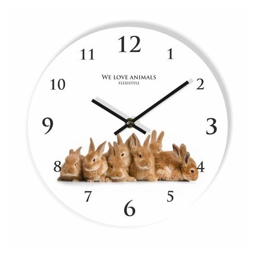 Detské hodiny so zajačikmi