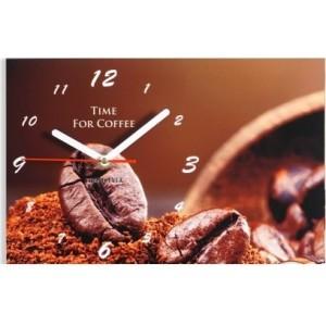 Moderné kuchynské hodiny so zrnkami kávy
