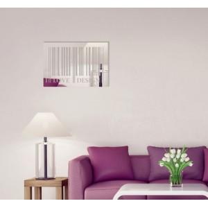Obdĺžnikové dekoračné zrkadlo I love design