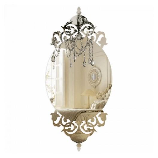 Štýlové nalepovacie zrkadlo do spálne