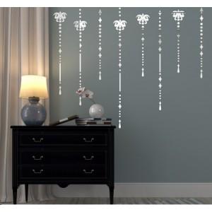Set dekoračných nalepovacích zrkadiel na stenu