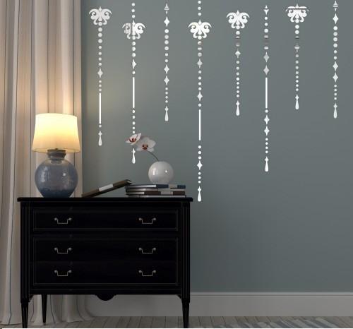 DomTextilu Set dekoračných nalepovacích zrkadiel na stenu 8034