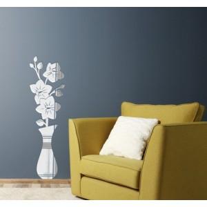 Ozdobné zrkadlá do obývacej izby v motíve vázy s kvetmi
