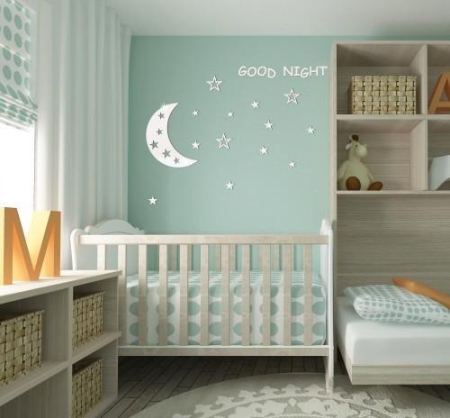 DomTextilu Nalepovacie detské dekorácie na stenu Good night 8044