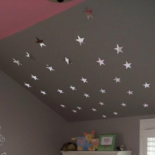 DomTextilu Nalepovacie zrkadlá na stenu v tvare hviezd 8046