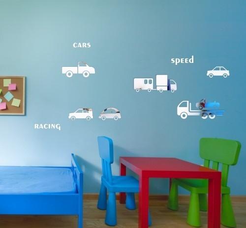 DomTextilu Bezpečné akrylové zrkadlo a tvare áut 8051