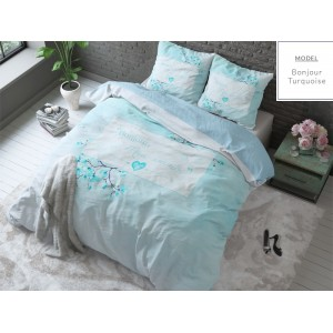 Modré romantické posteľné obliečky 140x200