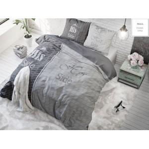 Sivé bavlnené posteľné obliečky pre páry
