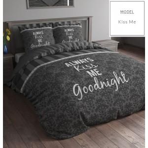 Sivé posteľné obliečky bavlnené