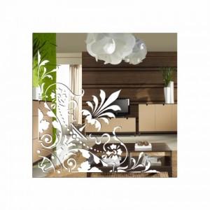 Nerozbitné dekoratívne zrkadlo štvorcové
