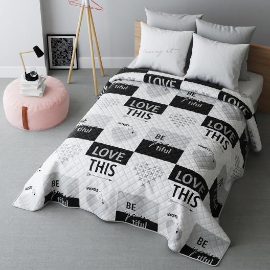 Biele obojstranné prehozy na posteľ