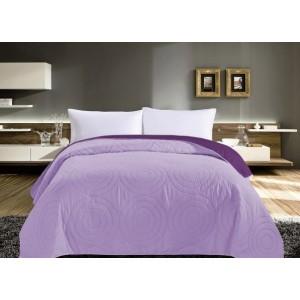 Obojstranné prehozy na posteľ fialovej farby