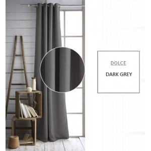 Interiérový záves tmavo sivej farby