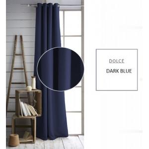 Tmavo modré závesy jednofarebné