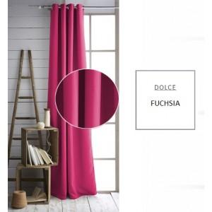 Moderný záves ružovej farby