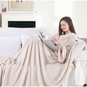 Krémová deka z mäkkého materiálu