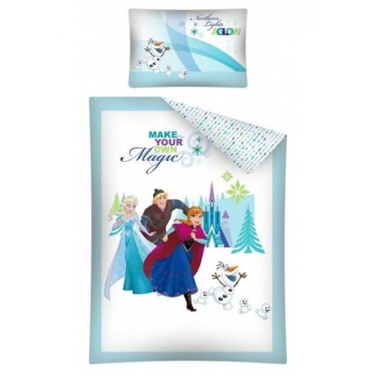 Biele detské posteľné obliečky Ľadové Kráľovstvo