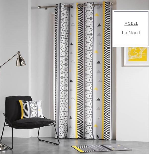 Moderné škandinávske závesy bielej farby 140 x 260 cm