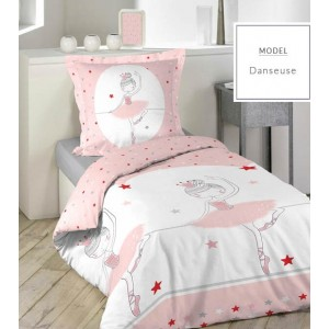 Ružové posteľné obliečky s baletkou