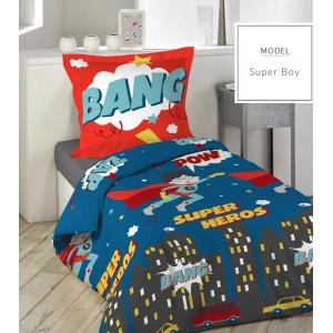 Chlapčenské posteľné obliečky v modrej farbe