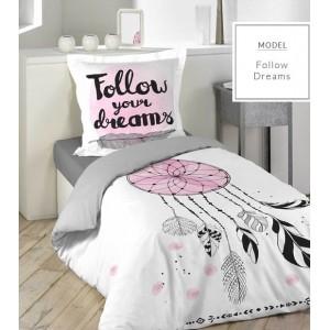 Biele detské posteľné obliečky s motívom lapač snov