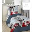 LONDON bavlnené návliečky na posteľ v sivej farbe