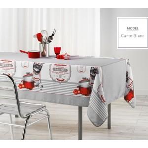 Moderný kuchynský obrus sivej farby