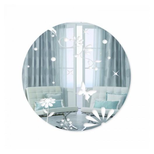 Okrúhle dekoračné zrkadlá s motýľmi