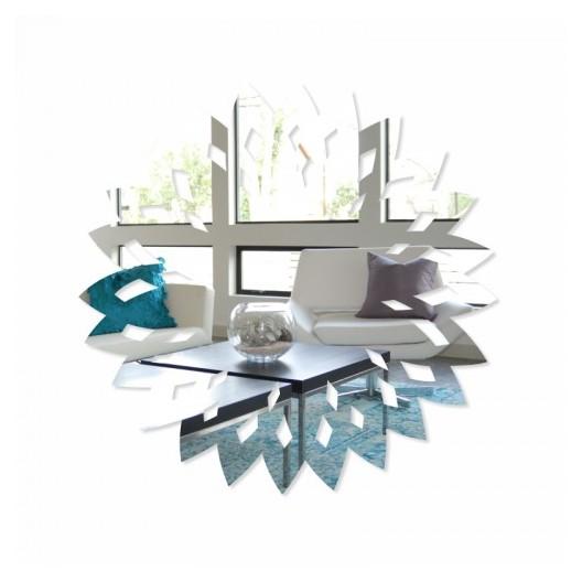Okrúhle nalepovacie zrkadlo na stenu