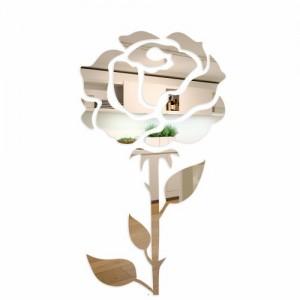 Asymetrické dekoratívne zrkadlo ruža