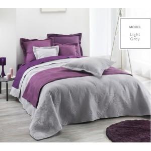 Luxusné prehozy na posteľ sivej farby