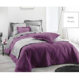 Prikrívka na manželskú posteľ fialovej farby