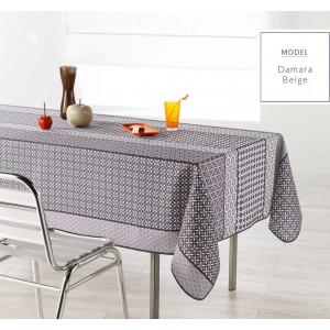 Béžový obrus na obdĺžnikový stôl