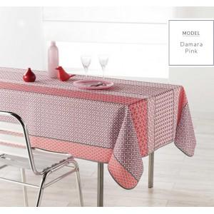 Moderný kuchynský obrus ružovej farby