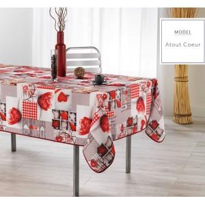 Vianočný kuchynský obrus červenej farby
