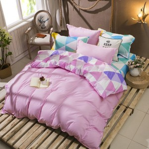 Ružové posteľné obliečky z mikrovlákna