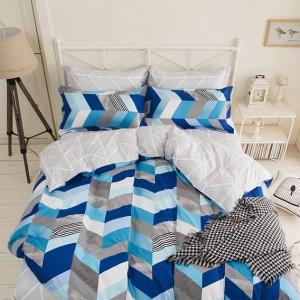 Obojstranné posteľné obliečky modrej farby