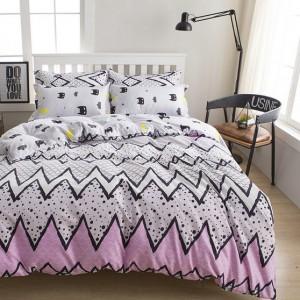 Moderné obojstranné posteľné obliečky bielej farby