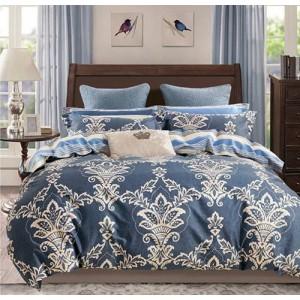 Modré obojstranné posteľné obliečky 160x200 cm