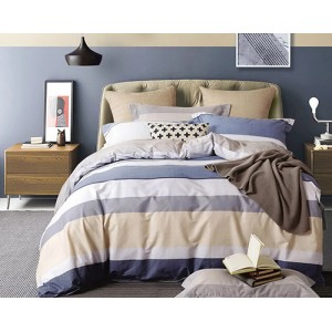 Pruhované posteľné obliečky z bavlneného saténu