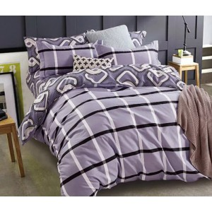 Fialové posteľné obliečky obojstranné
