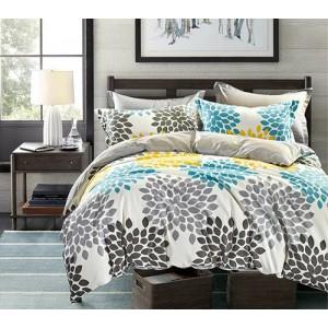 Béžové posteľné obliečky s potlačou