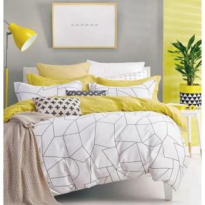 Obojstranné biele posteľné obliečky 160x200 cm