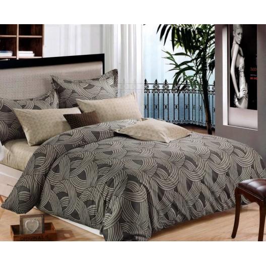 Vzorované posteľné obliečky sivej farby