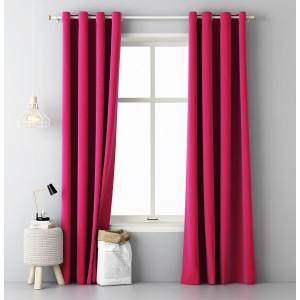 Štýlové závesy ružovej farby