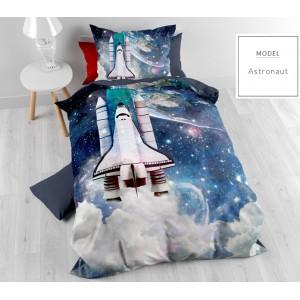 Detské posteľné obliečky s raketou