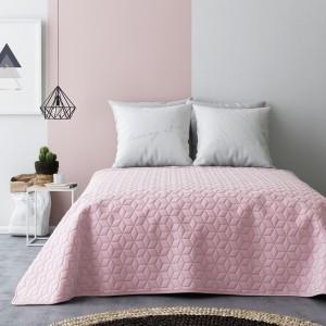 Obojstranné prehozy na posteľ v ružovej farbe