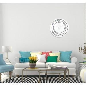 Biele nalepovacie hodiny na stenu